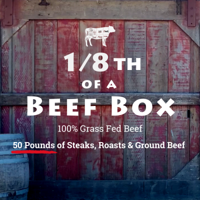 1/8 Beef Box + $100 Gift Certificate