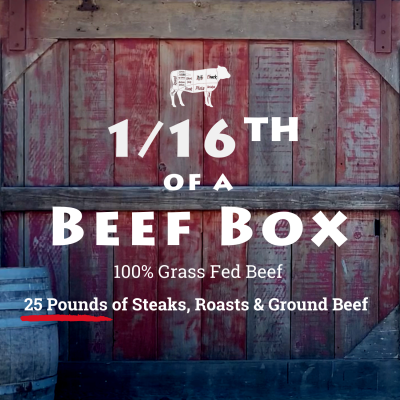 1/16 Beef Box + $50 Gift Certificate