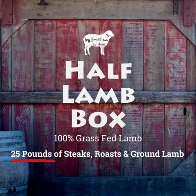 1/2 Lamb Box + $50 Gift Certificate