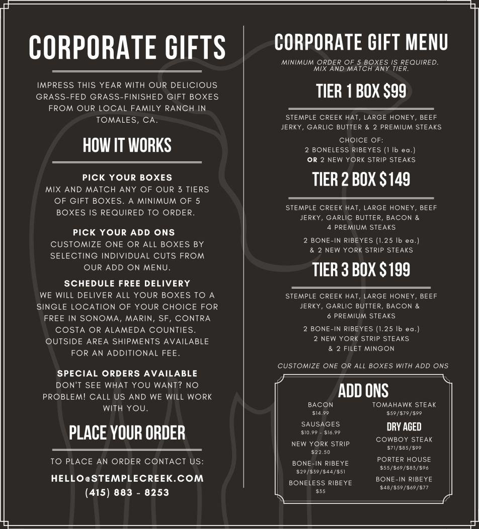 Corporate Gift Menu 6