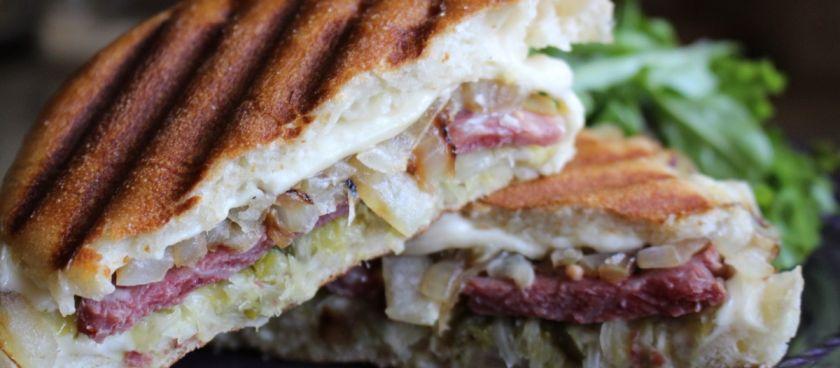 30-Minute Meals: Corned Beef & Sauerkraut Panini