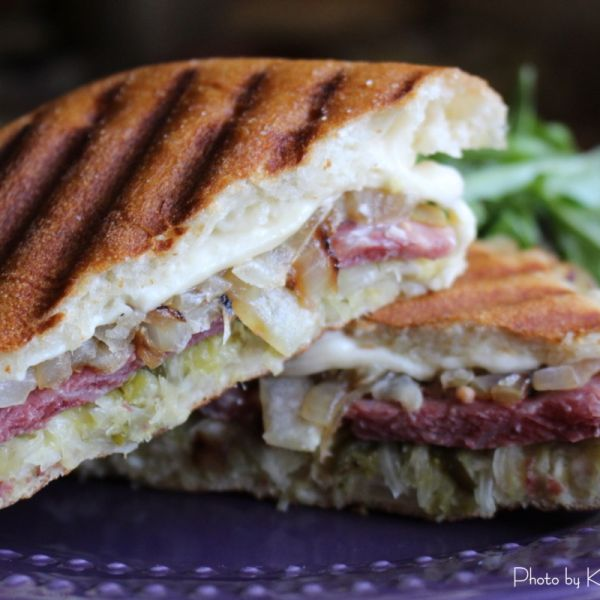 30-Minute Meals: Corned Beef & Sauerkraut Panini