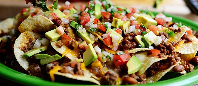 Loaded Beef Nachos for Super Bowl