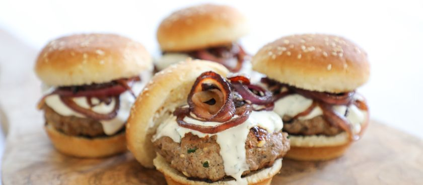 30-Minute Meals: Mediterranean Lamb Sliders with Feta & Mint Tzatziki