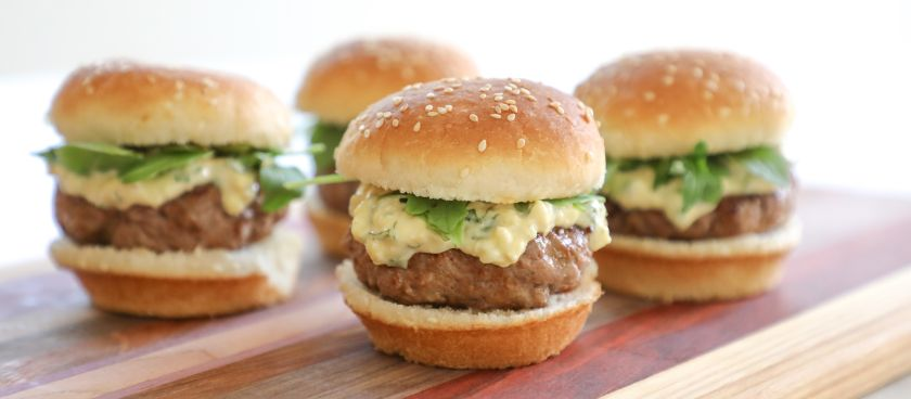 30-Minute Meals: Blue Cheese-Basil Mayo Lamb Sliders