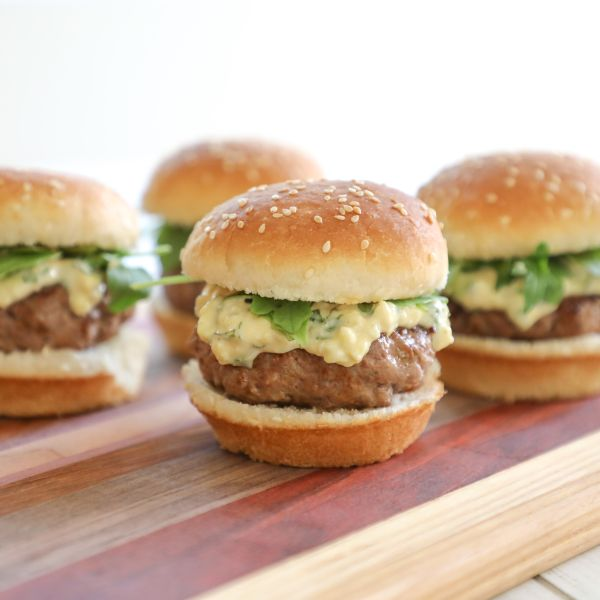 30-Minute Meals: Blue Cheese-Basil Mayo Lamb Sliders