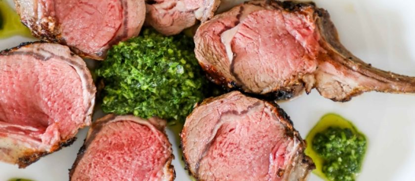 30-Minute Meals: Oven Roasted Rib Lamb Chops with Mint Chimichurri